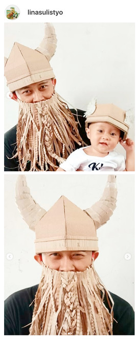 DIY Viking Helmet Costume