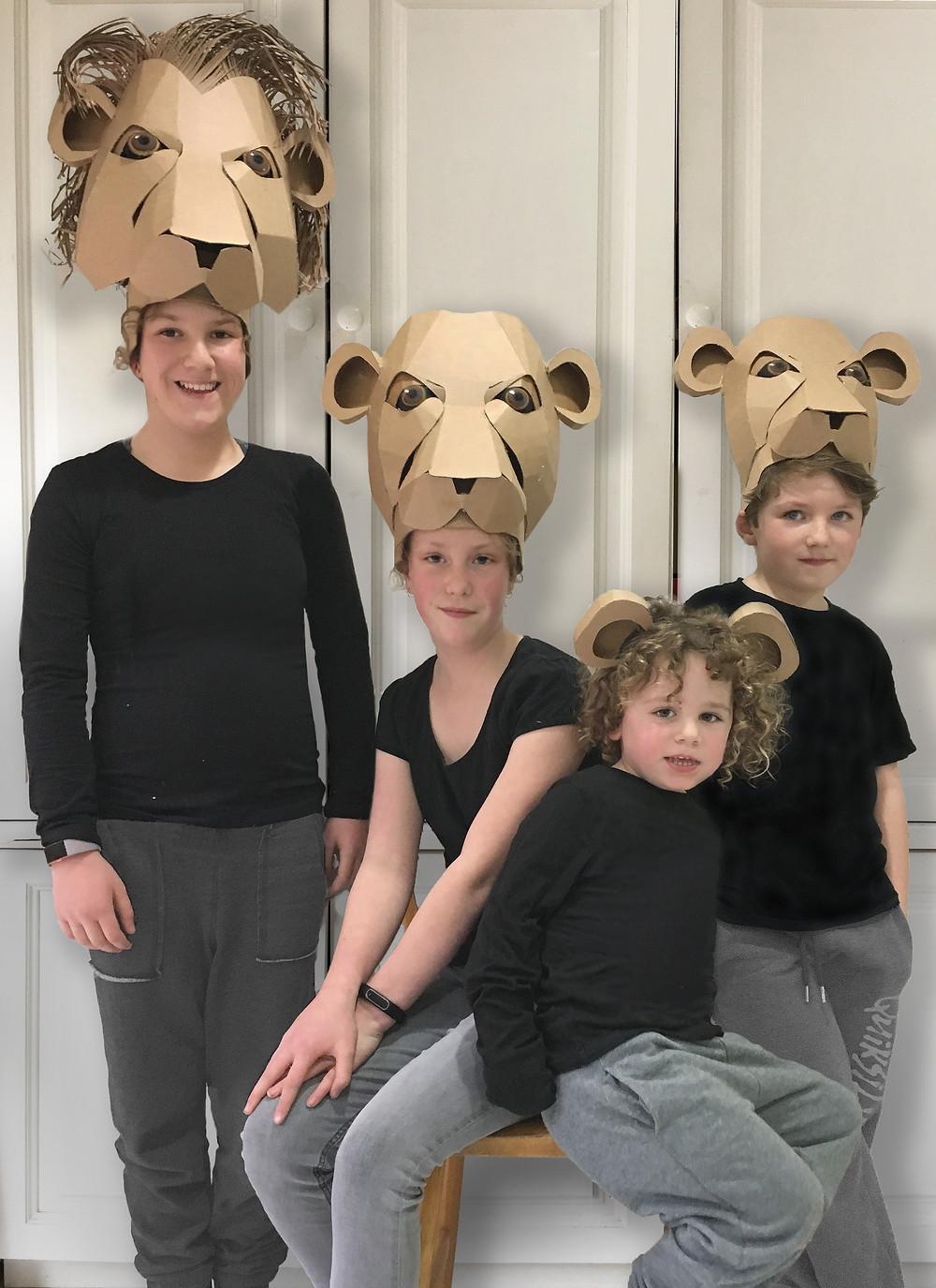 Cardboard Lion Headdress Template for School Production