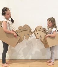 Cardboard Unicorn Costume