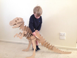 Large Cardboard and MDF Dinosaur