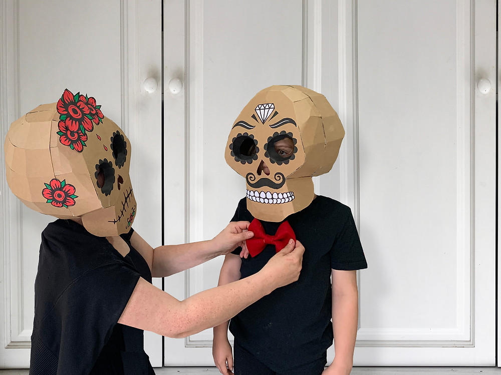 Cardboard skull for the Day of the Dead Celebrations