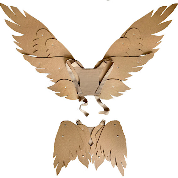 Cardboard articulating wings costume tutorial