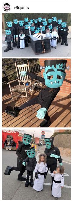 DIY Frankenstein Head template