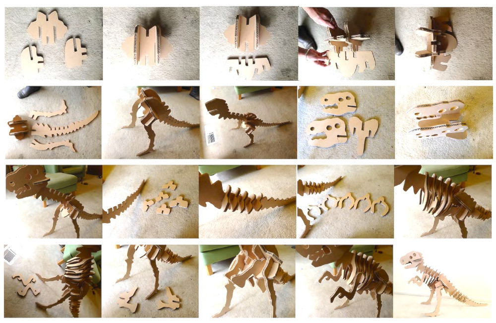 Large Cardboard/MDF Dinosaur Instructions
