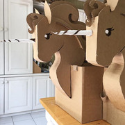 Cardboard Unicorn Costume