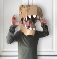 Large Cardboard dinosaur head costume