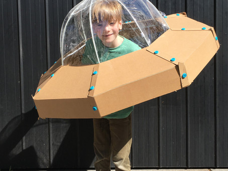 DIY CARDBOARD SPACESHIP