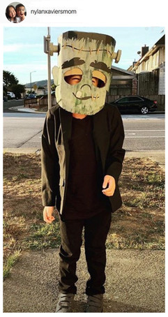 DIY Cardboard Frankenstein Head
