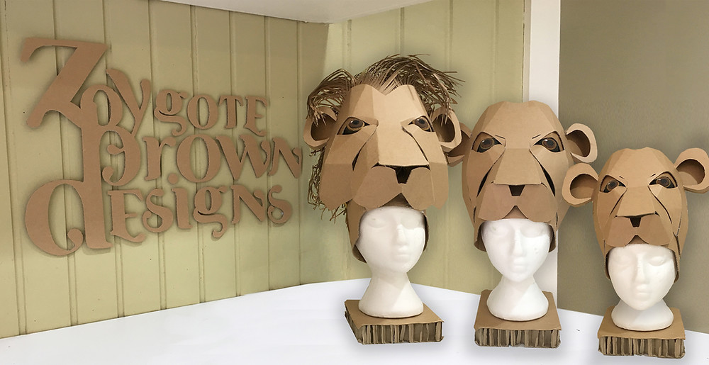 Cardboard Lion Headdress Template for School Production