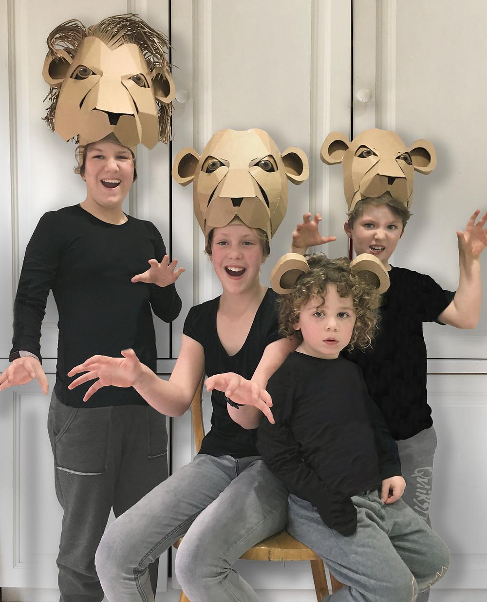 Cardboard Lion Headdress Template for Musical