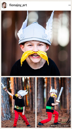 DIY Cardboard Viking Helmet Costume
