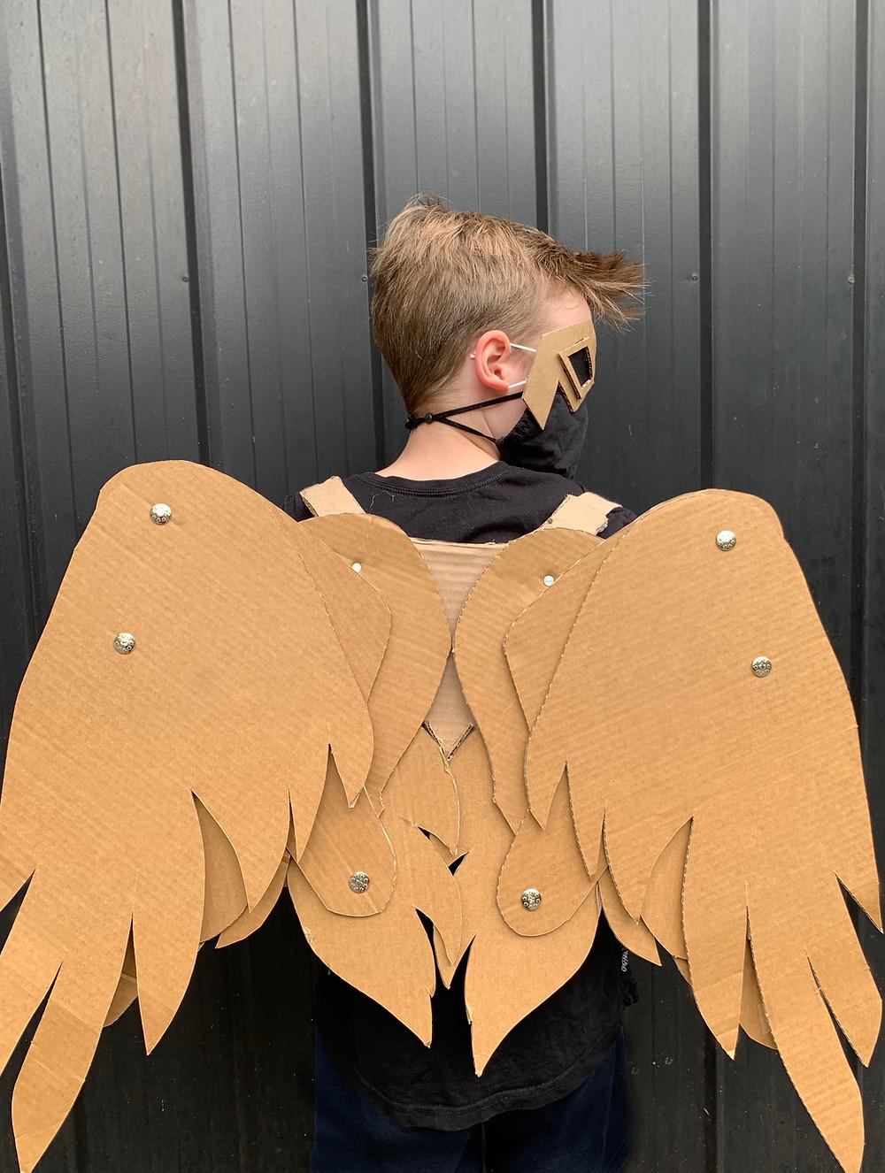 Cardboard Falcon Wings costume