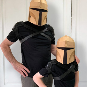 DIY CARDBOARD BOUNTY HUNTER HELMET