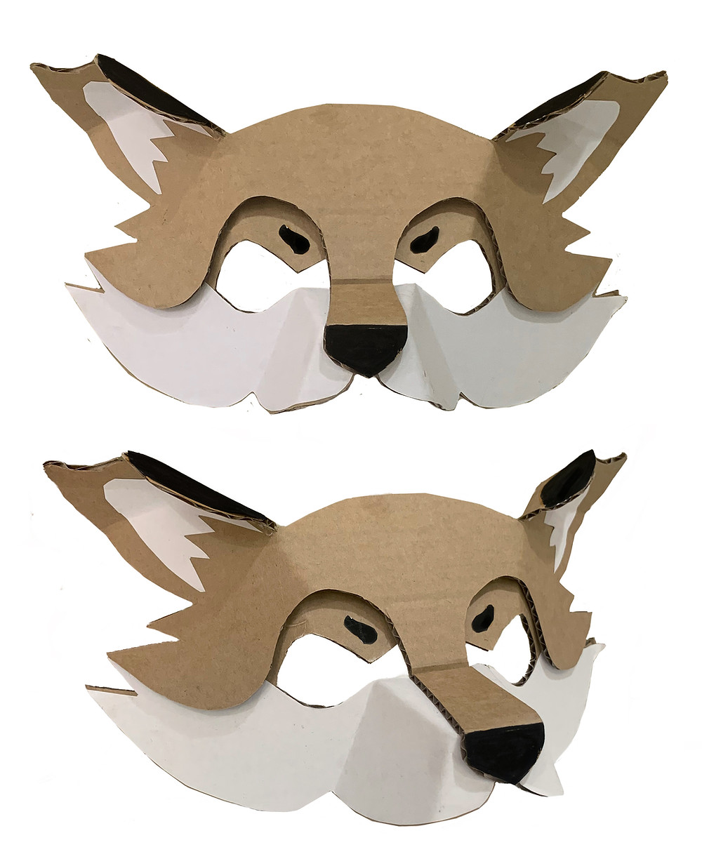 Cardboard Fox Mask Template
