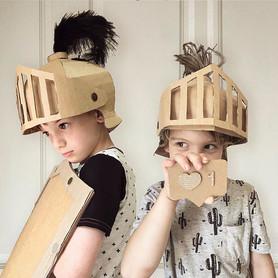 Cardboard Knights Helmet Costume