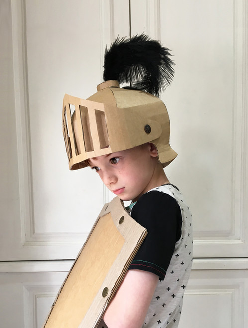 This Template Will Give You Step By Instruction On How To Make A Knights Helmet Out Of Cardboard Using Printable