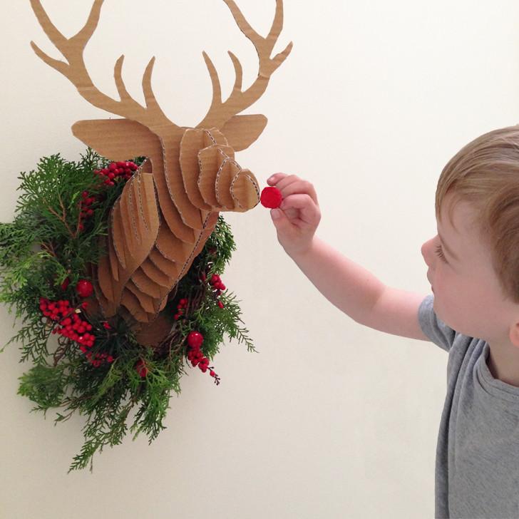Cardboard Deer Head Bust
