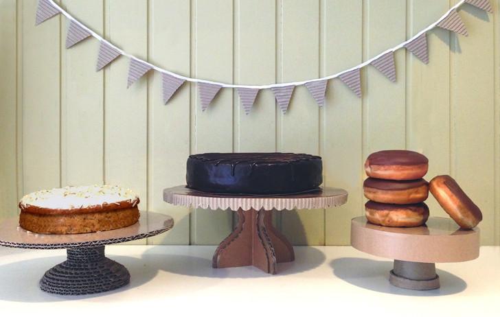 DIY Cardboard Cake Stand