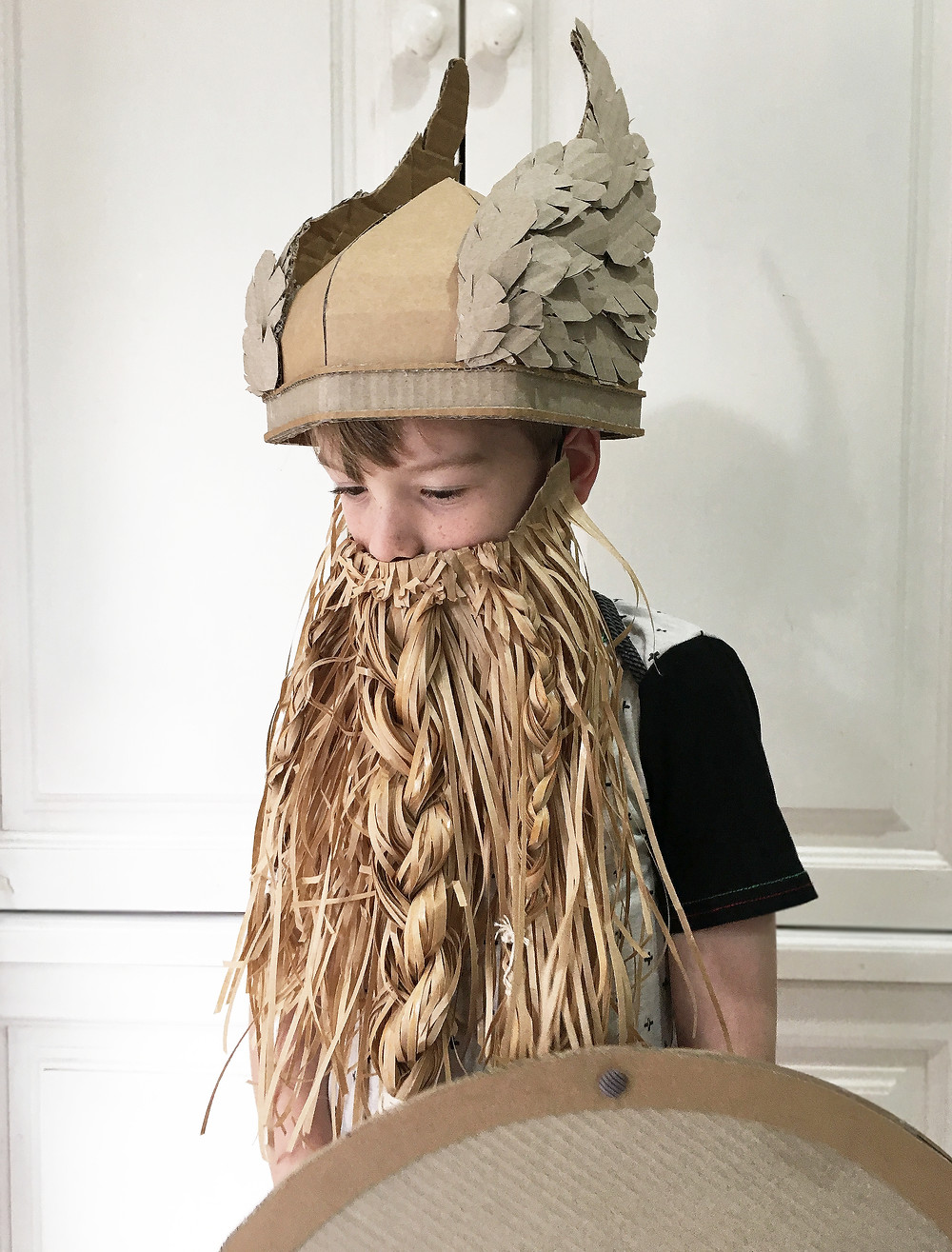 Cardboard Costume Viking Helmet with Wings