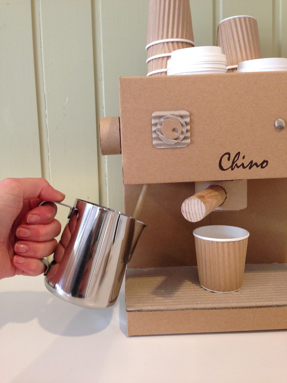 Cardboard Cappuccino Machine Toy