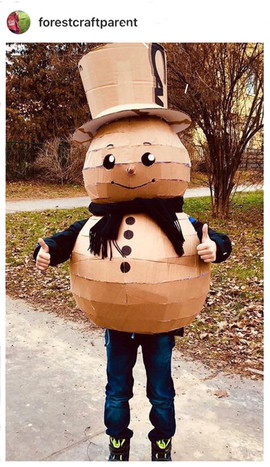 Snowman Costume by forestcraftparent
