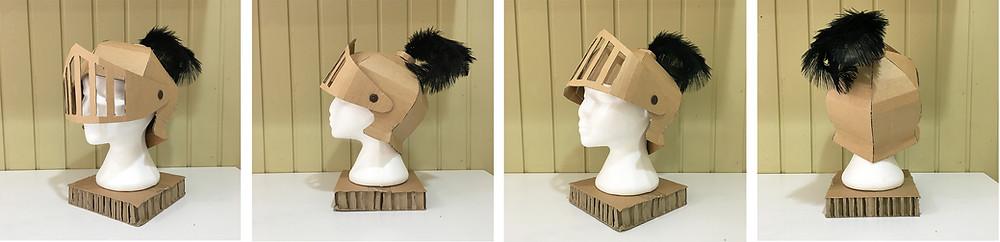 DIY Cardboard Costume Knights Helmet