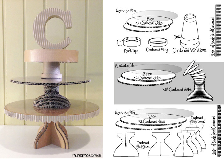 DIY Cardboard Cake Stand Instructions