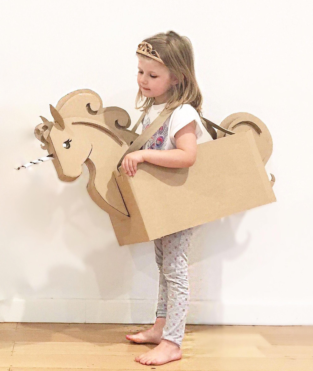 DIY Unicorn cardboard costume template
