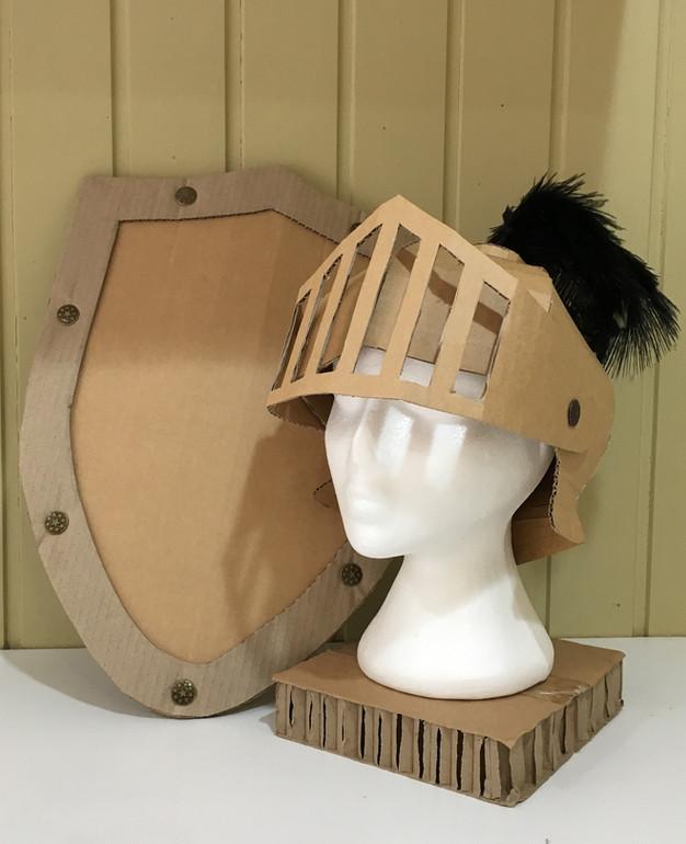 knights helmet diy cardboard costume templates zygote brown designs. Black Bedroom Furniture Sets. Home Design Ideas