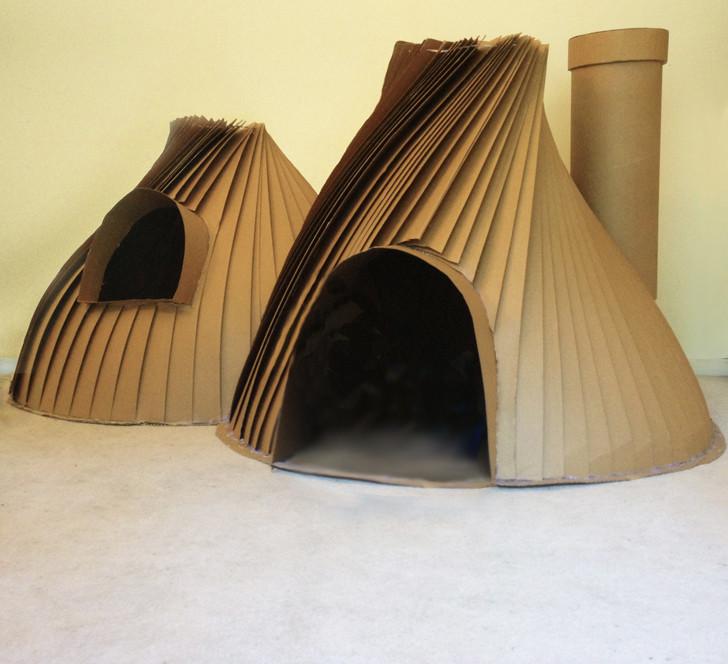 Cardboard Cubby Igloo Play House