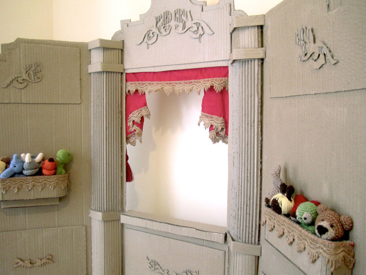 Cardboard Puppet Theatre for Kids