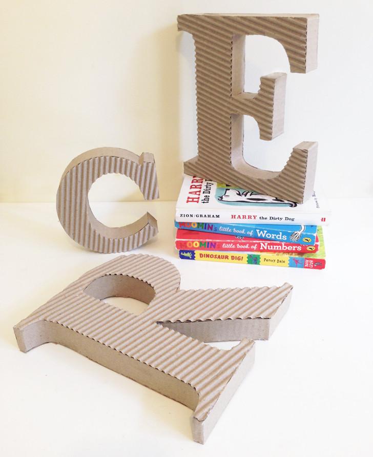 Large 3D Cardboard Font Letter