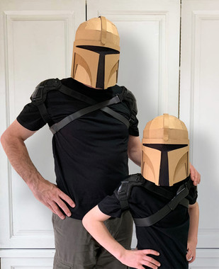 Cardboard costume Bounty Hunter Helmet D