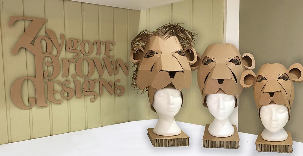 Cardboard Lion Headdress Template