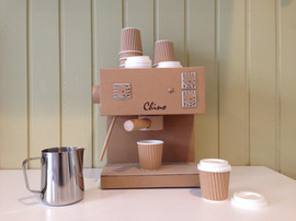 Cardboard Toy Cappuccino Machine