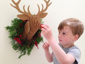 DIY Cardboard Deer Bust