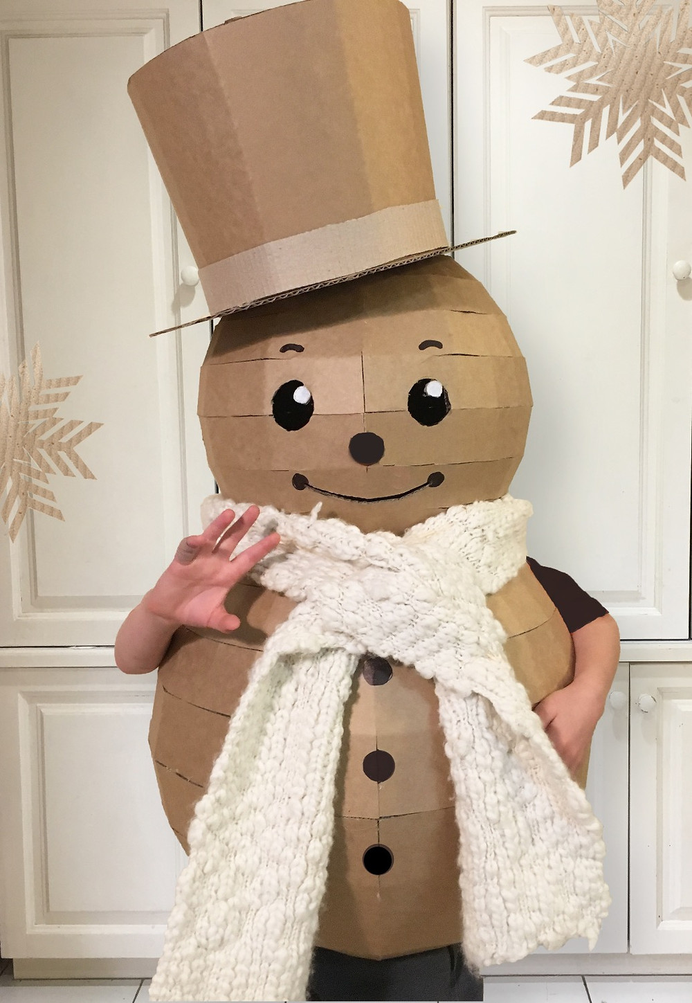 DIY Cardboard Snowman Costume by Zygote Brown Designs