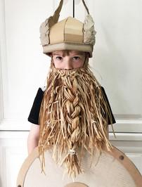 Cardboard Viking Helmet with wings