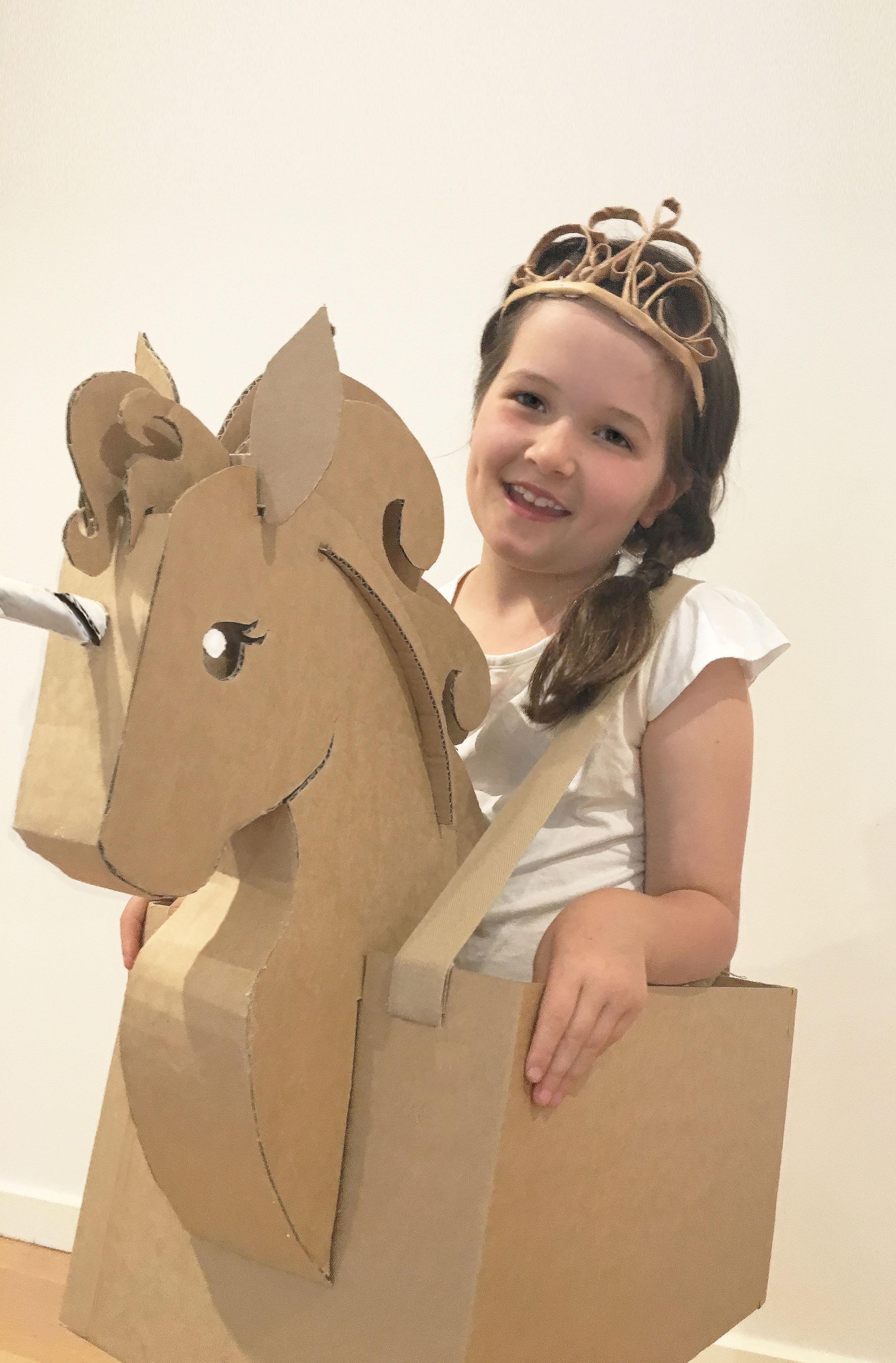 Diy Cardboard Unicorn Costume