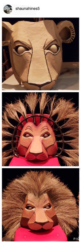 The lion headdress template