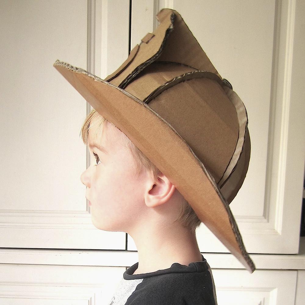 Cardboard Costume Fireman Helmet
