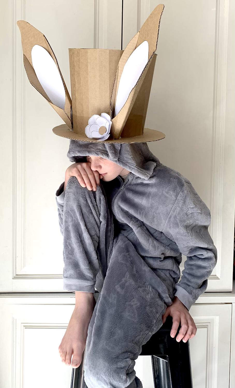 Cardboard Easter Bonnet with Ears