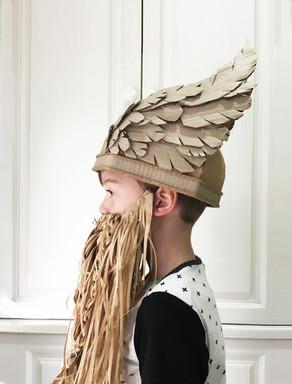 Viking helmet costume with wings
