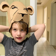 Cardboard Lion Headress