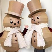 Cardboard Snowman Costume