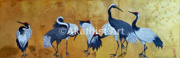 Seven Cranes Standing