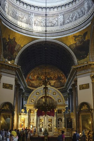 the iconostasis at Our Lady of Kazan in St. Petersburg, Russia, where my husband proposed to me