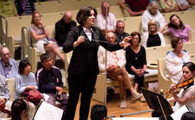 Conductor, Musician, and Composer, Maria Fuller, at the  Chautauqua Institution Tuesday, August 13, 2019.