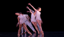 """Dancers of the Charlotte Ballet perform """"Essence of Numbers,"""" choreographed by Sarah Hayes Harkins at the Chautauqua Institution Monday, July 15, 2019"""