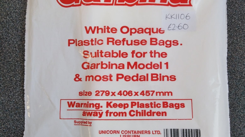 Garbina Replacement Plastic Bin Bags - 25
